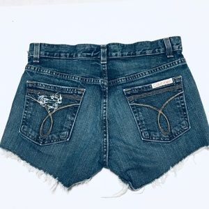 Calvin Klein Jeans Self Distressed Cut off Jeans 4